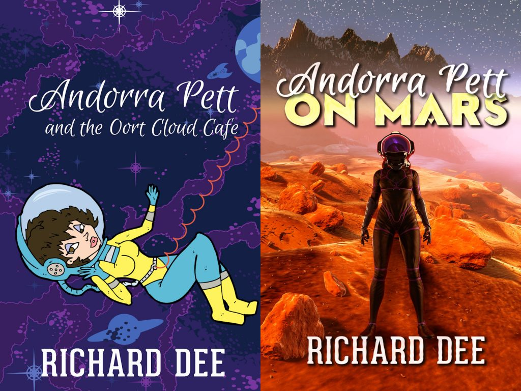 Andorra Pett novel covers